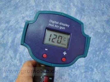 Folienfön mit Temperaturregelung und digitaler Temperaturanzeige